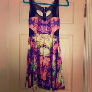 JUNIORS Material Girl Flowery Dress